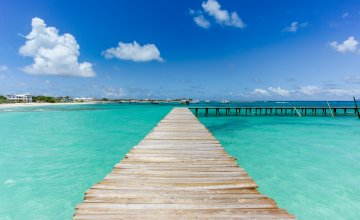 A jetty in Anguilla Caribbean